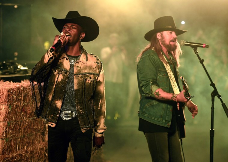 Image: Lil Nas X and Billy Ray Cyrus perform at the Stagecoach Festival in Indio, California, on April 28, 2019.