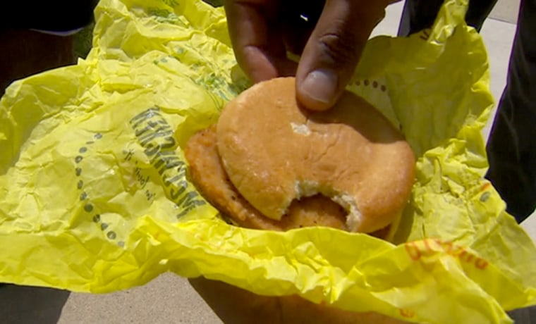 Image: A police officer forgot he took a bite out of his sandwich at McDonald's after he saw several small bites while heating the sandwich up at work.