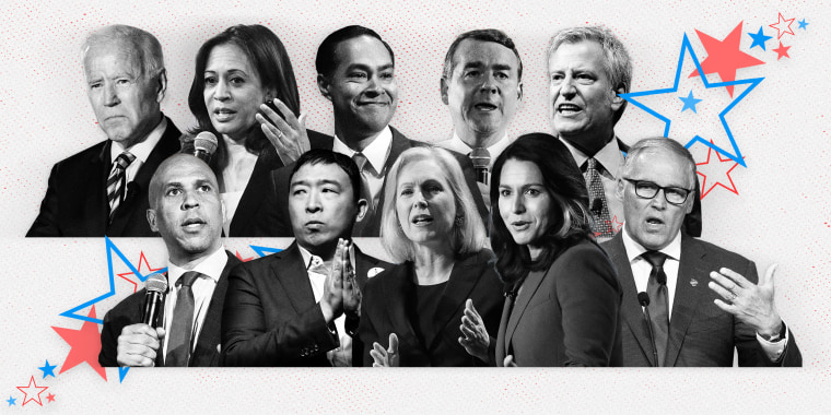 Image: The second Democratic debate, hosted by CNN, is taking place over two nights in Detroit with 10 candidates on stage each night.