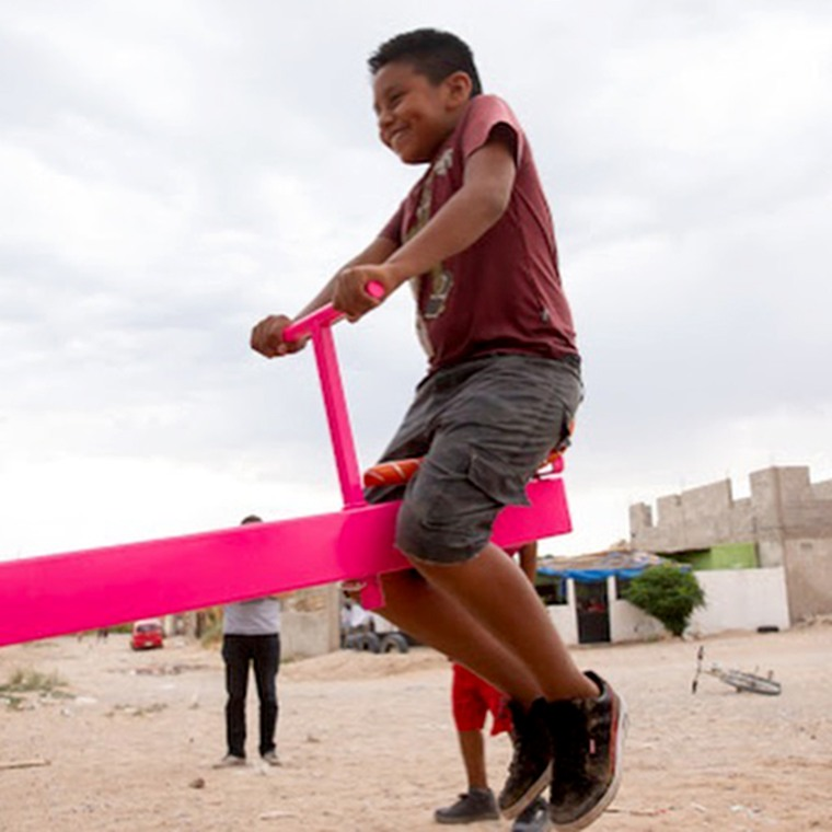 Image: Ronald Rael and Virginia San Fratello designed a seesaw between the U.S. and Mexico border wall in 2009, and came to life in New Mexico this July.