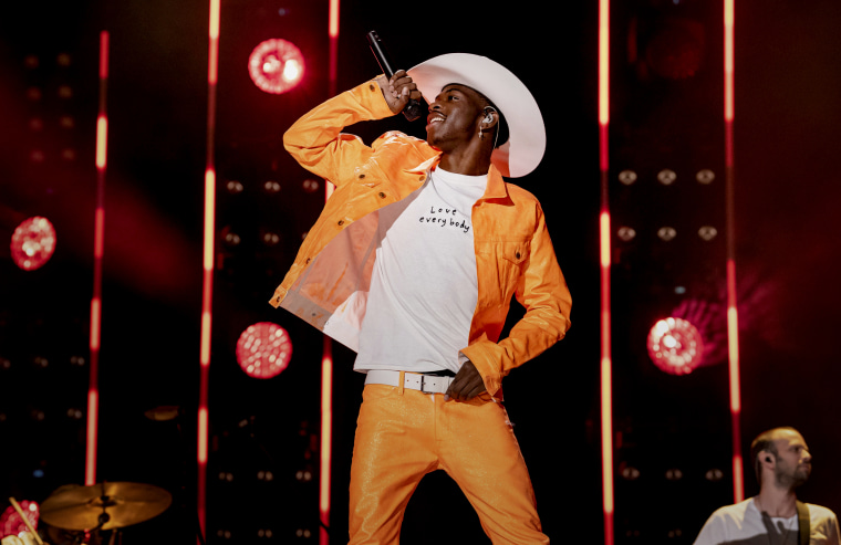 Image: Lil Nas X performs at the CMA Music Festival in Nashville on June 8, 2019.