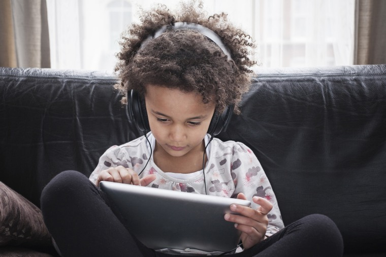 Image: Child using tablet