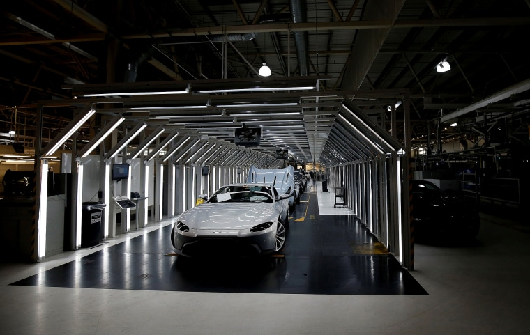 Image: The Aston Martin production line in Gaydon, England, on Feb. 14, 2019.