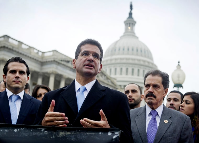 Image: Pedro Pierluisi speaks outside of the Capitol in Washington, D.C., on Jan. 15, 2013.