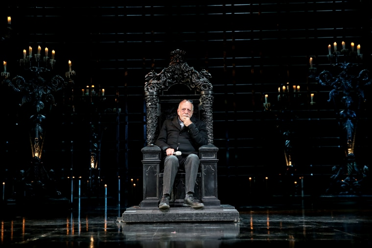"Image: Theatrical producer and director Harold Prince during a rehearsal of ""The Phantom of the Opera"" musical at the Moscow Youth Palace in Russia in 2016."