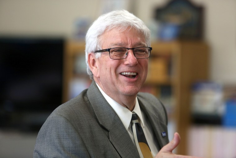 Jerry R. Foxhoven, executive director, Drake Legal Clinic, speaks at a meeting of the governor's task force at the Iowa Juvenile Home in Toledo, Iowa on Sept. 18, 2013.