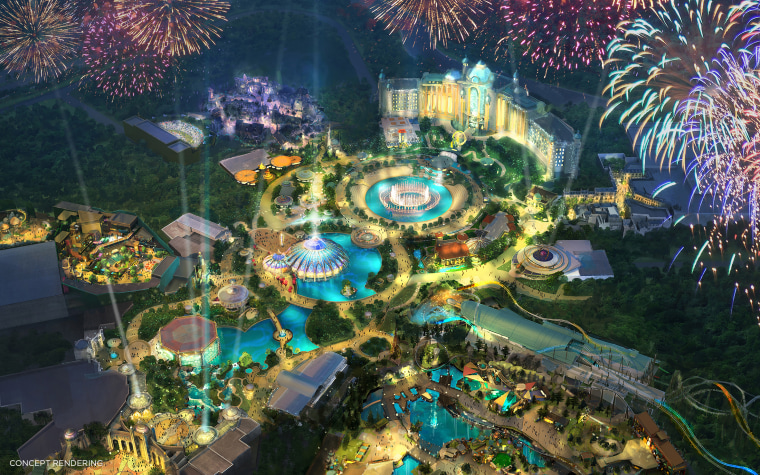 Concept art of Universal's Epic Universe. This will be Universal's fourth Florida theme park.