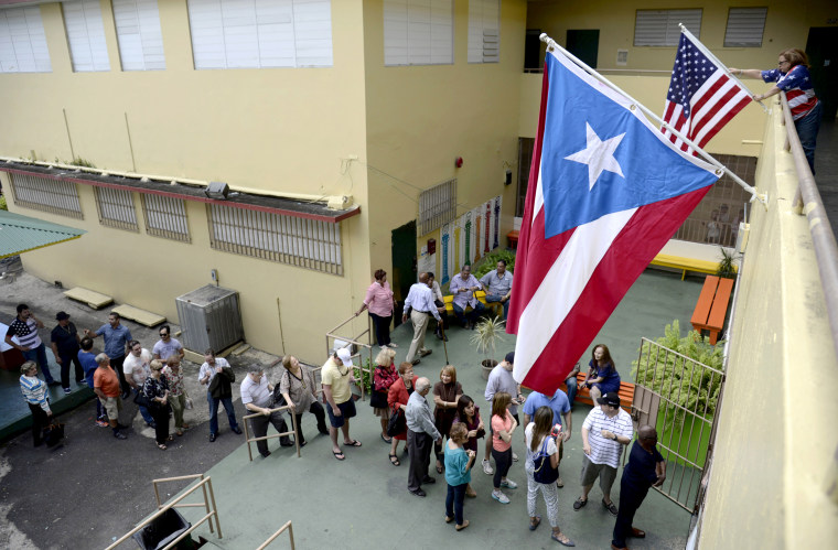 Puerto Rican residents in San Juan vote during the U.S. territory's Republican primary on March 6, 2016.