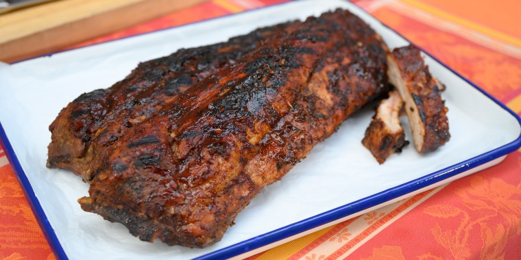 Chef D's Baby Back Pork Ribs + Spicy Peel & Eat Shrimp + Smoked Meatless Greens + Potato Salad