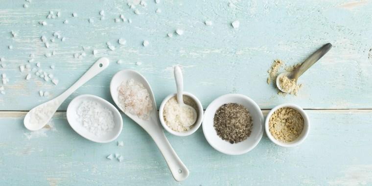Various sorts of salt
