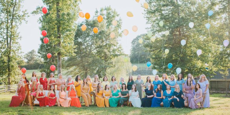 40 moms celebrate their rainbow babies in joyful photo shoot