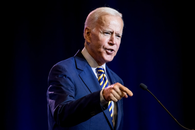 Image: Former Vice President Joe Biden speaks at the South Carolina Democratic Party State Convention in Columbia on June 22, 2019.