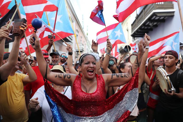 Image: Puerto Rico Prepares For Leadership Change As Embattled Gov. Rossello Resigns