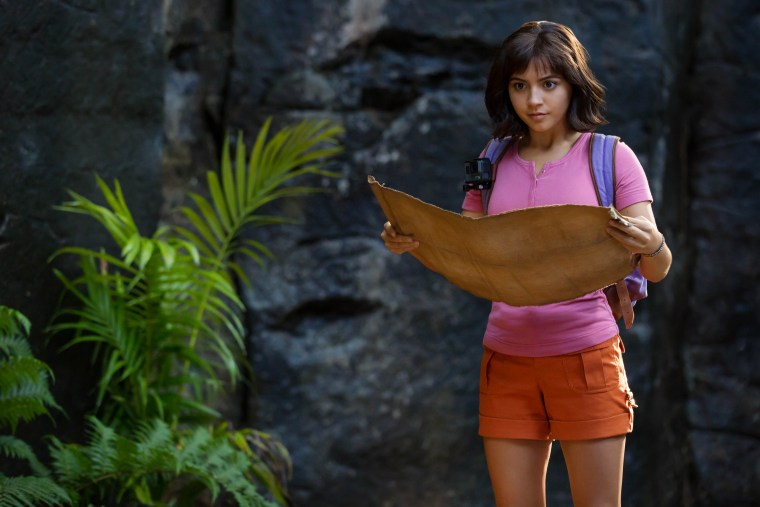 "Isabela Moner stars as Dora in ""Dora and the Lost City of Gold."""
