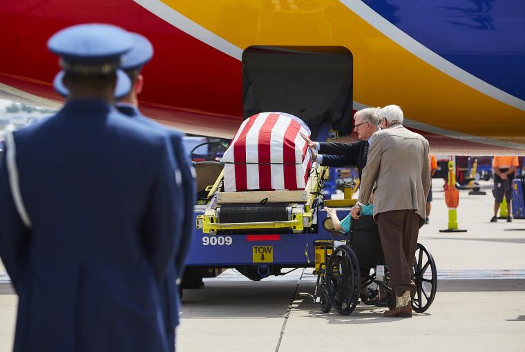 Image: Roy A. Knight casket
