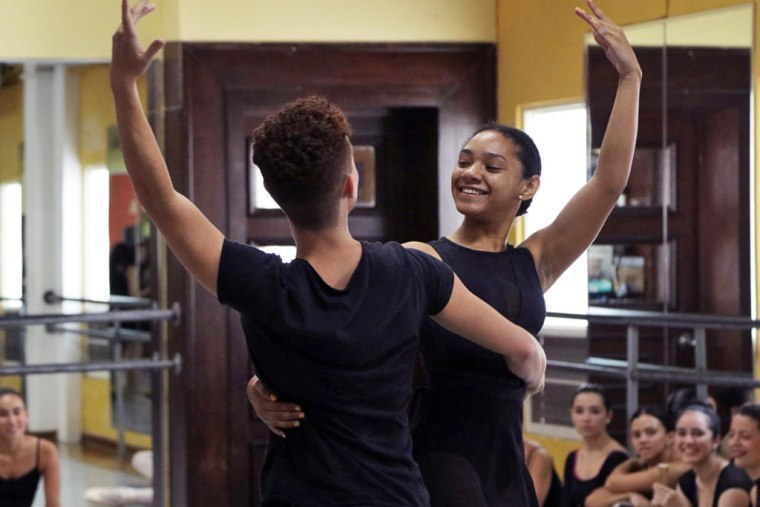 Adriana Paola Morales Lopez, 15, is a scholarship recipient at the Andanza Dance Company who wants to become a professional ballerina.