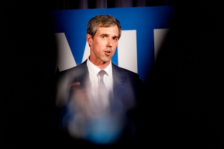 Image: Beto O'Rourke speaks at a Democratic National Committee event in Atlanta on June 6, 2019.