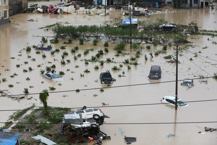 Image: Typhoon Lekima damage in Wenzhou, China