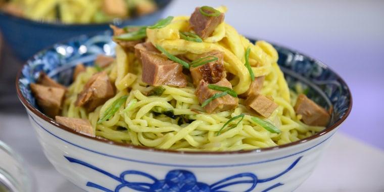 Tim Love's Slow Cooker Spicy Pork Shoulder + Grilled Pork Quesadillas + Cold Pork Ramen Noodle Salad