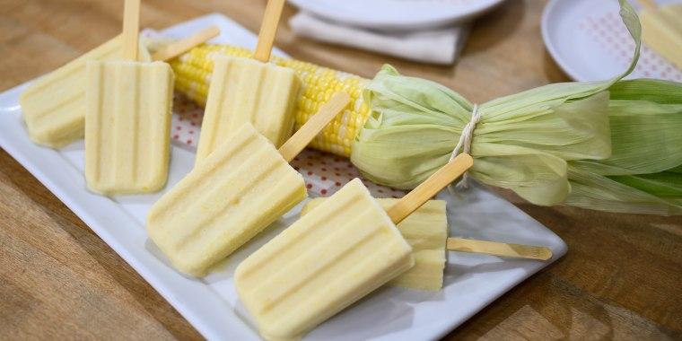 Katie Lee's Scallop Corn Chowder + Corn Ice Pops