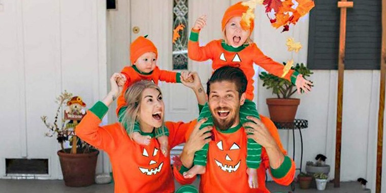 Halloween pajamas for the whole family