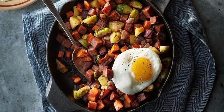 Try Spam Pumpkin Spice in a fall-flavored breakfast hash.