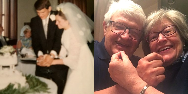 This couple has eaten their original wedding cake every year for nearly 50 years