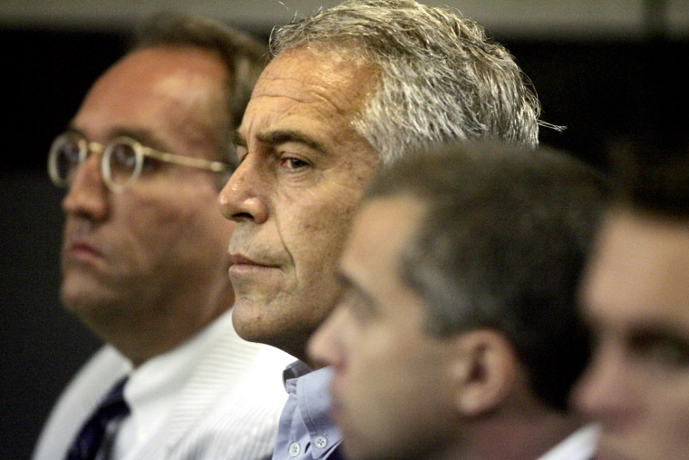 Image: Jeffrey Epstein appears in court in West Palm Beach, Florida, in 2008.
