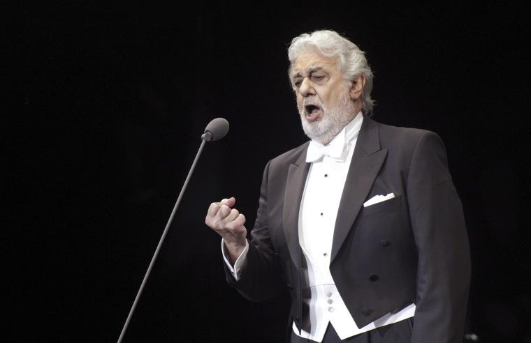 Tenor Placido Domingo performs in 2017.