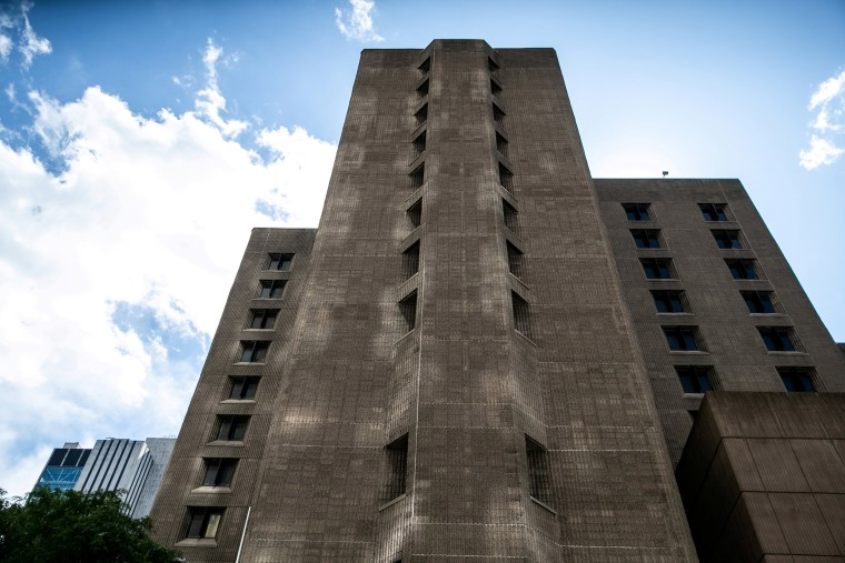 Image: An exterior view of the Metropolitan Correctional Center jail where financier Jeffrey Epstein, who was found dead