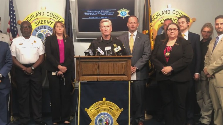 Richland County Sheriff Leon Lott holds a news conference to discuss the five-day Operation Relentless Guardian on Aug. 13, 2019.