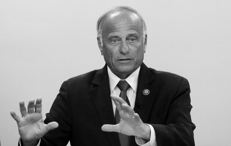 Image: Republican Rep. Steve King Holds Town Hall Meeting In Boone, Iowa