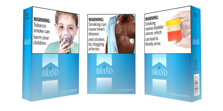 Image: Handout photo of an rtist's rendition of the U.S. Food and Drug Administration's (FDA) proposed cigarette packaging carrying graphic new health warnings