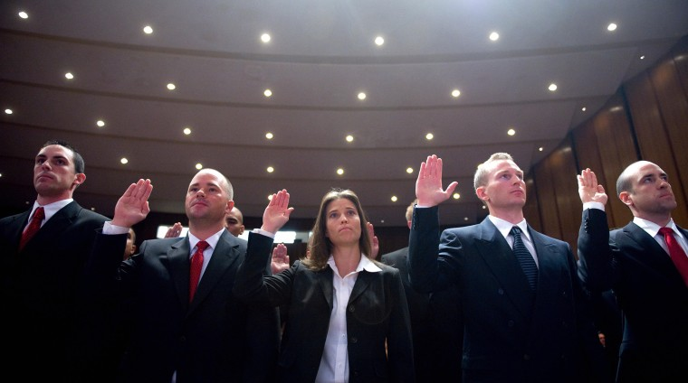 Image: Federal Bureau of Investigation trainees