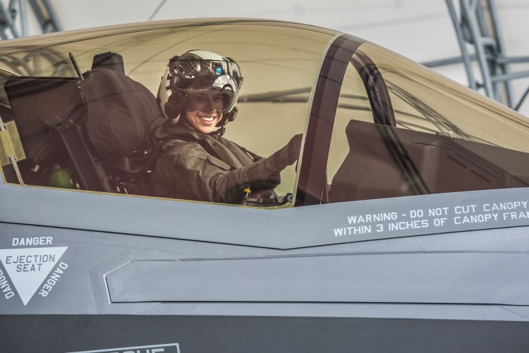 Woman becomes first female Marine to pilot F-35B fighter jet