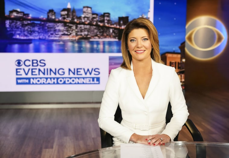 Image: Norah O'Donnell on CBS Evening News.