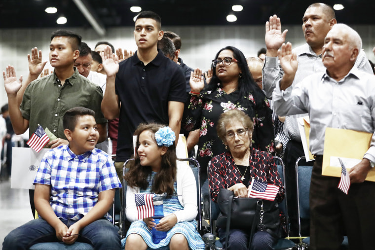 Image: Naturalization Ceremony Held At Los Angeles Convention Center