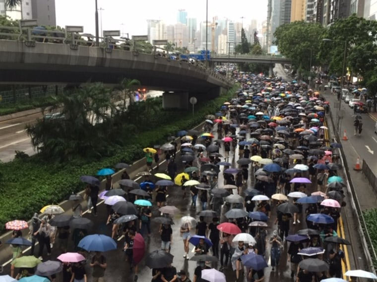Tens of thousands rally in Hong Kong as China condemns U.S. lawmakers' support