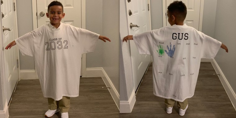 Gus Rodriguez wears the cute creation his mom, Carina Cansino, made for him.