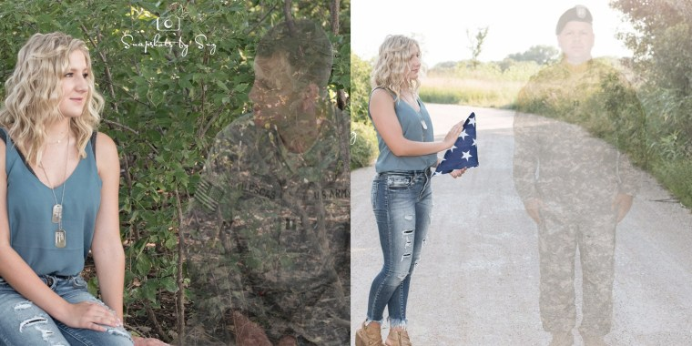 Julia Yllescas wanted to honor her father during her senior photo shoot.
