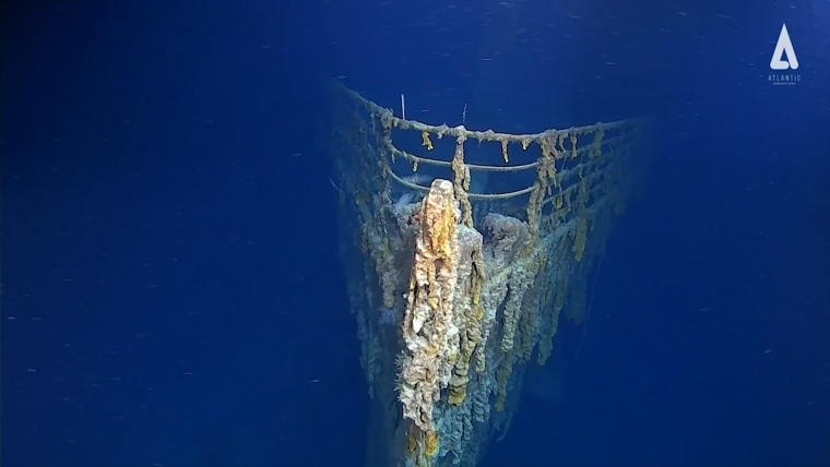In this image taken from video released by Atlantic Productions, part of the wreckage of the RMS Titanic that lays about 3,800 metres below the surface of North Atlantic Ocean around 370 miles (596km) south of Newfoundland in Canada, during a recent visit, the first for over 14-years to record the wreck.  Scientists have warned that the wreckage of the Titanic, which sank in 1912 killing more 1,500 people, is deteriorating rapidly, noting salt corrosion, metal-eating bacteria and deep current action all having profound impact. The Atlantic Productions crew used the expedition to assess the wreck's current condition and make visuals of the wreck using augmented reality and virtual reality technology.