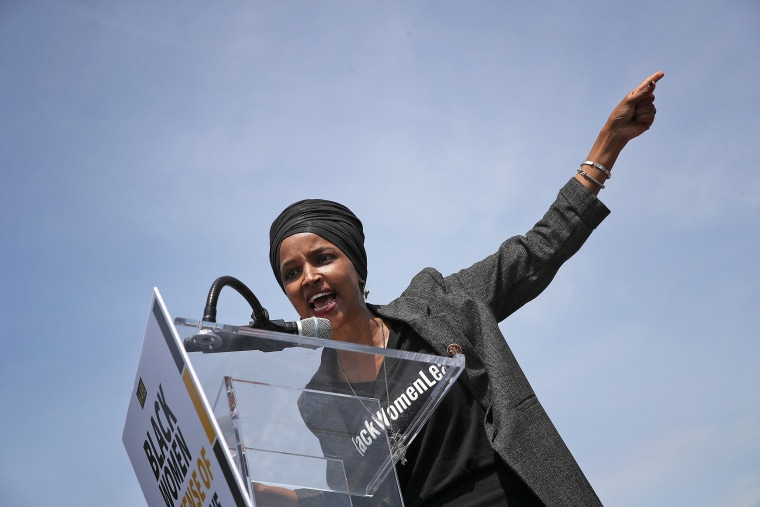 Image: Rep. Ilhan Omar Holds A Rally Demanding Democratic Leadership Censure President Trump Over Inciting Violence