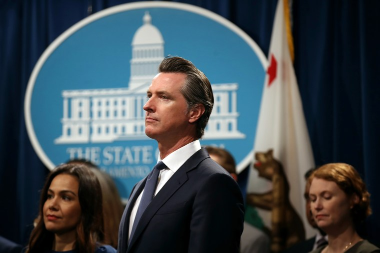 Image: California Governor Gavin Newsom And Attorney General Becerra Announce Legal Action On Immigration