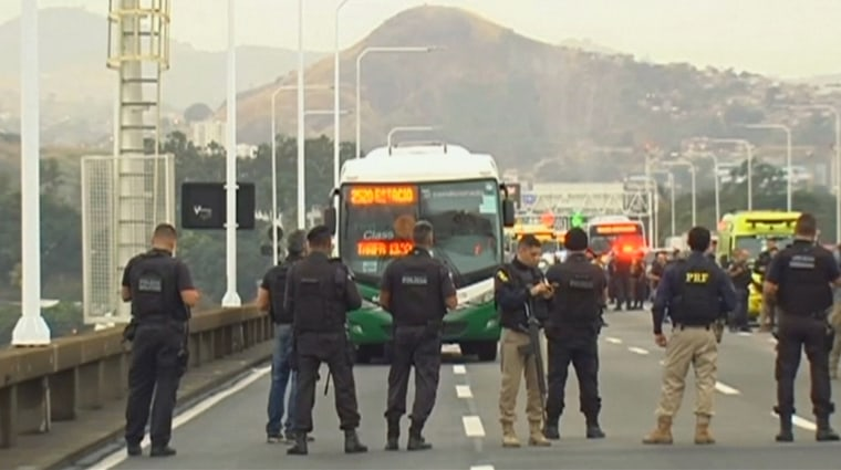 Armed man holds dozens of people hostage on bus in Rio de Janeiro