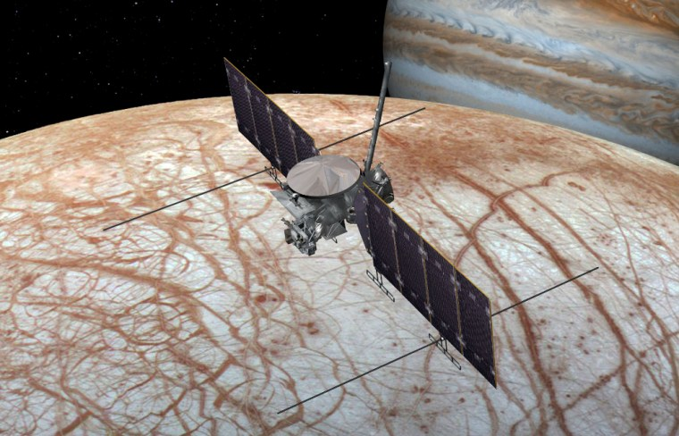 Image: This artist's rendering shows NASA's Europa Clipper spacecraft being developed for launch sometime in the 2020s.