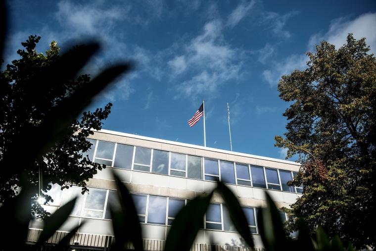 Image: U.S. Embassy building in Copenhagen, Denmark.