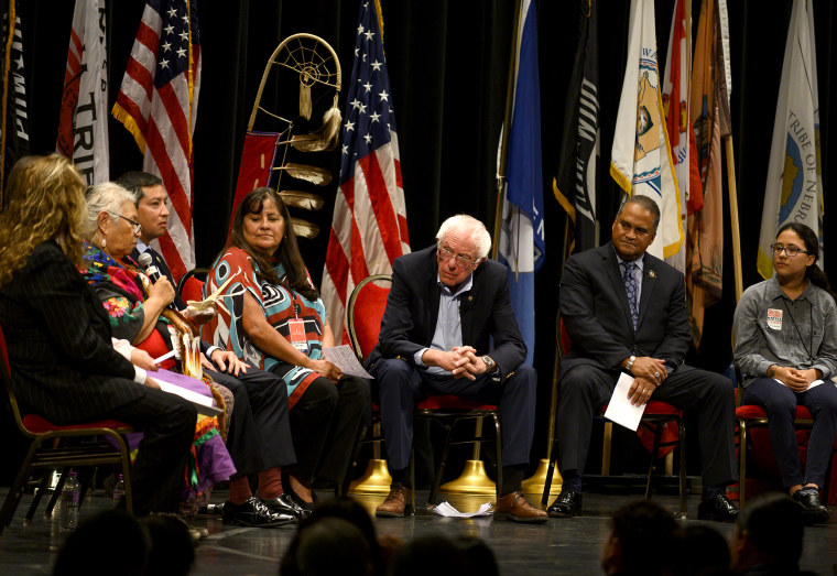 Image: Democratic Presidential Candidates Attend Frank LaMere Native American Presidential Forum In Iowa