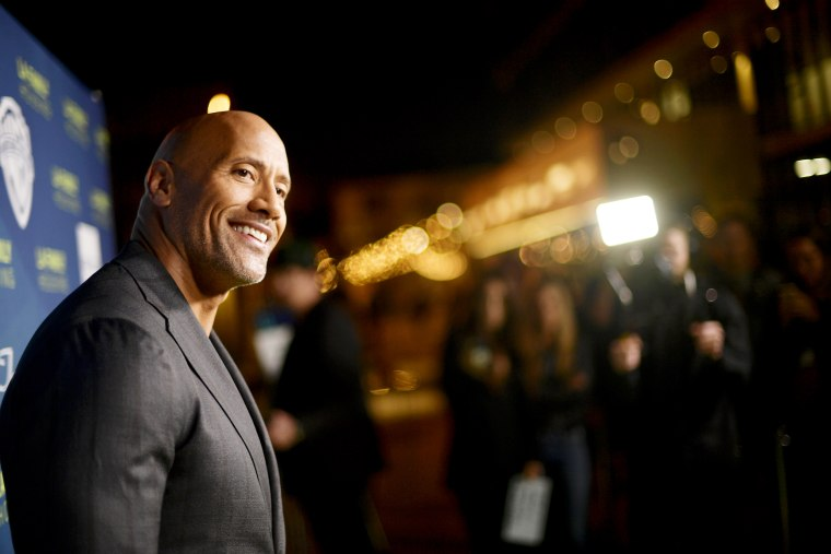 Image: Dwayne Johnson at a premiere in West Hollywood in 2018.