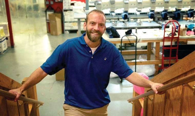 Blaine Adamson, owner of Hands On Originals in Lexington, Kentucky.