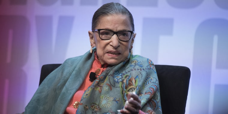 Supreme Court Justice Ruth Bader Ginsburg participates in a discussion during the Library of Congress National Book Festival at the Walter E. Washington Convention Center on Saturday, August 31, 2019.